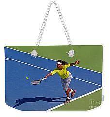 Serena Williams 1 Weekender Tote Bag by Nishanth Gopinathan