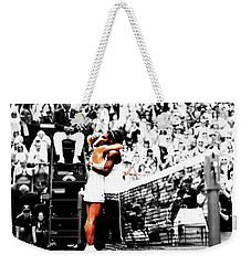 Serena Williams And Angelique Kerber 1a Weekender Tote Bag by Brian Reaves