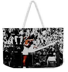 Serena Williams And Angelique Kerber Weekender Tote Bag by Brian Reaves