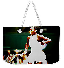 Serena Williams Making History Weekender Tote Bag by Brian Reaves