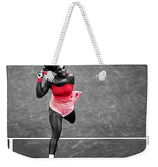 Serena Williams Strong Return Weekender Tote Bag by Brian Reaves