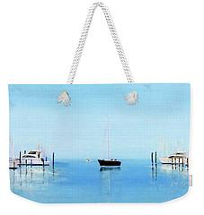 Serene Atlantic Highlands Marina Weekender Tote Bag