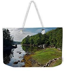 Serene Backyard Weekender Tote Bag