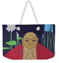 Serene Buddha Weekender Tote Bag by Hilda and Jose Garrancho