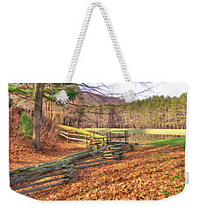 Weekender Tote Bag featuring the photograph Serene Lake by Gordon Elwell