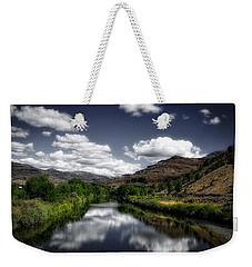 Weekender Tote Bag featuring the photograph Serene Morning by Lynn Hopwood