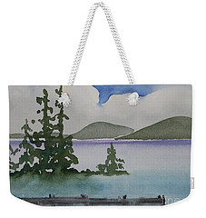 Serene Morning On Lake Superior Weekender Tote Bag