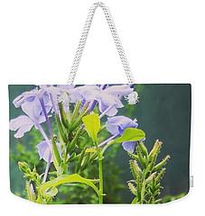 Serene Purple Weekender Tote Bag by Rushan Ruzaick