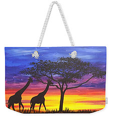 Serengeti Sunset Weekender Tote Bag by Darren Robinson