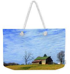 Serenity Barn And Blue Skies Weekender Tote Bag by Tina M Wenger