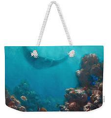Serenity - Hawaiian Underwater Reef And Manta Ray Weekender Tote Bag