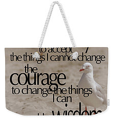 Weekender Tote Bag featuring the photograph Serenity Prayer 01 by Vicki Ferrari