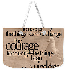 Weekender Tote Bag featuring the photograph Serenity Prayer 04 by Vicki Ferrari