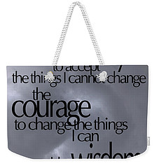 Weekender Tote Bag featuring the photograph Serenity Prayer 05 by Vicki Ferrari