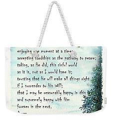 Serenity Prayer The Full Version Weekender Tote Bag