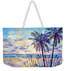 Serenity Under The Palms Weekender Tote Bag by Lou Ann Bagnall