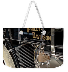 Weekender Tote Bag featuring the photograph Serial Number One by Susan Rissi Tregoning