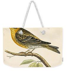 Serin Finch Weekender Tote Bag by English School