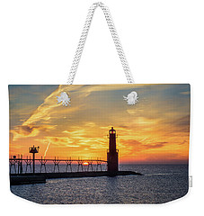 Weekender Tote Bag featuring the photograph Serious Sunrise by Bill Pevlor