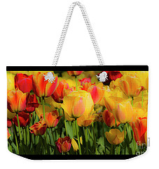 Weekender Tote Bag featuring the photograph Seriously Spring - Bordered by Wendy Wilton
