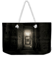 Weekender Tote Bag featuring the photograph Seti I Temple Abydos by Nigel Fletcher-Jones