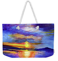 Weekender Tote Bag featuring the painting Setting by Allison Ashton