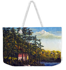Setting On The Pines Weekender Tote Bag by Jim Phillips