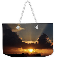 Weekender Tote Bag featuring the photograph Setting Softly by Jan Amiss Photography