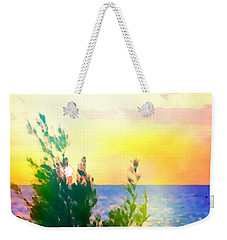 Pastel Colors On The Atlantic Ocean In Cancun Weekender Tote Bag