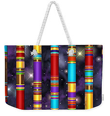 Weekender Tote Bag featuring the digital art Seven by Andreas Thust