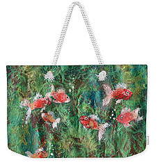 Seven Little Fishies Weekender Tote Bag by Maria Watt