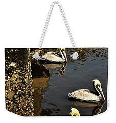 Seven Pelicans Weekender Tote Bag