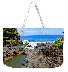 Weekender Tote Bag featuring the photograph Seven Sacred Pools Of Maui by Michael Rucker