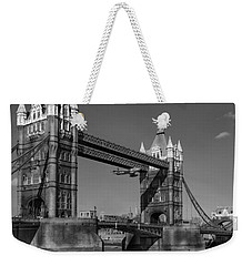Seven Seconds - The Tower Bridge Hawker Hunter Incident Bw Versio Weekender Tote Bag