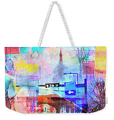 Weekender Tote Bag featuring the photograph Seventh Street by Susan Stone