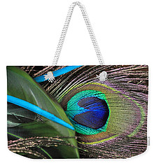 Several Feathers Weekender Tote Bag by Angela Murdock