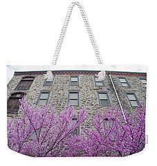 Weekender Tote Bag featuring the photograph Sevill Schofields Economy Mill In Spring - Manayunk by Bill Cannon