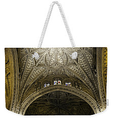 Weekender Tote Bag featuring the photograph Seville Cathedral - Looking Up by Madeline Ellis