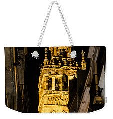 Seville - The Giralda At Night  Weekender Tote Bag by Andrea Mazzocchetti