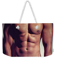 Sexy Male Muscular Body Weekender Tote Bag