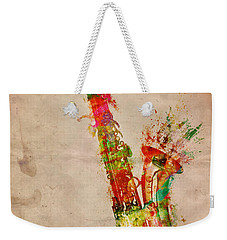 Sexy Saxaphone Weekender Tote Bag by Nikki Smith