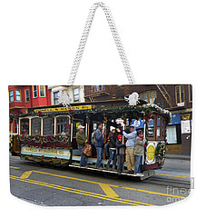 Weekender Tote Bag featuring the photograph Sf Cable Car Powell And Mason Sts by Steven Spak