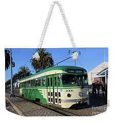 Weekender Tote Bag featuring the photograph Sf Muni Railway Trolley Number 1006 by Steven Spak