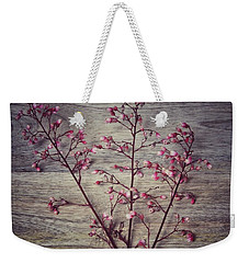 Shabby Chic Coral Bell Flowers Weekender Tote Bag