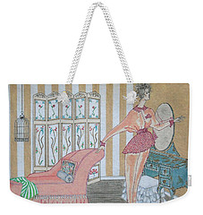 Shabby Chic -- Art Deco Interior W/ Fashion Figure Weekender Tote Bag