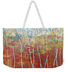 Shades Of Autumn Weekender Tote Bag by Judi Goodwin