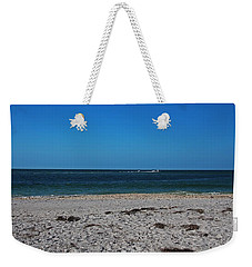 Weekender Tote Bag featuring the photograph Shades Of Blue by Michiale Schneider