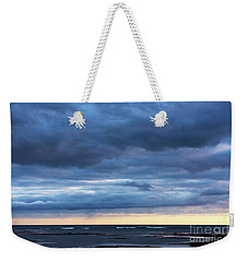 Weekender Tote Bag featuring the photograph Shades Of Blue.. by Nina Stavlund