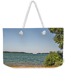 Weekender Tote Bag featuring the photograph Shades Of Green And Blue by Sue Smith