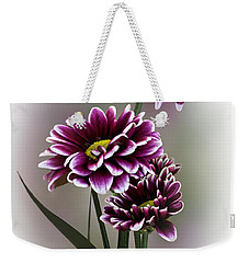 Shades Of Purple Weekender Tote Bag by Judy Johnson